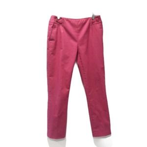 Etcetera Flat Front Cropped Pants Pink Size 0